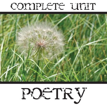 POETRY Unit Complete PowerPoint and Packet - Genres, Forms, Techniques, Devices