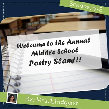 Poetry Unit and Poetry Slam - Common Core Aligned