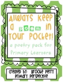 Poetry for Primary Learners:  Keep a Poem in Your Pocket
