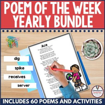 Poetry is perfect for partners. This yearly bundle includes approximately 40 poems you can use to build poetry notebooks with your students.