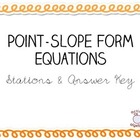 Point Slope Form Stations