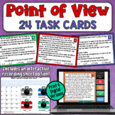 Point of View Task Cards (1st, 2nd, 3rd limited, 3rd omniscient)