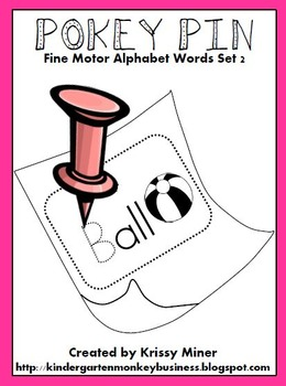 Pokey Pin Alphabet Words: Set 2 Fine Motor ABC Word Centers To Go