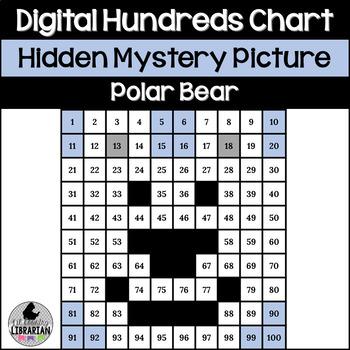 Polar Bear Hundreds Chart Hidden Picture Activity for Wint