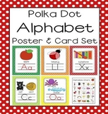 Polka Dot A-Z Alphabet Poster Card & Picture Letter Sound Pack
