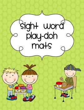 Polka Dot ABC and Sight Word Play-doh Mats Kindergarten