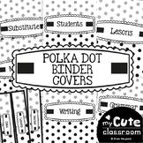 Binder Covers - Polka Dot - Black and White