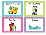 Polka Dot Book Bin Labels with Individual Book Labels Set 2