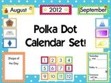 Polka Dot Calendar Items