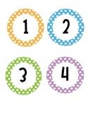 Polka Dot Circle Numbers