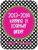 Polka Dot Keeping It Together Binder 2013-2014