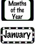 Polka Dot Months of the Year Set