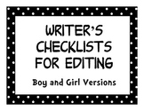 Polka Dot Writer's Checklist