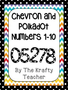 Polkadot and Chevron Numbers 1-10