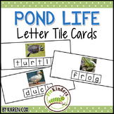 Pond Life Letter Tile Cards