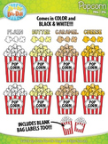 Popcorn Clip Art Set  — Includes 4 Flavors & 40 Graphics!
