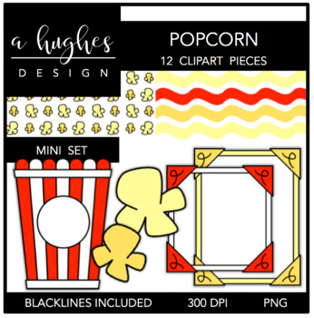 Popcorn Mini Set {Graphics for Commercial Use}