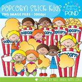 Popcorn Stick Kids - Clipart for Teaching