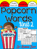 Popcorn Words Activities set 2 for Centers and Word Work