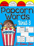 Popcorn Words Set 3 Great for Centers and Word Work
