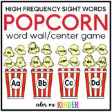 Editable Popcorn Word Wall- Teaching Sight Words