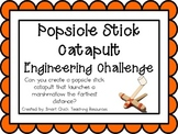 Popsicle Stick Catapult: Engineering Challenge Project ~ G