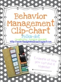 Polka Dot Positive Reinforcement Behavior Chart