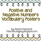 Positive and Negative Vocabulary Posters