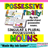 Possessive Nouns {Singular and Plural Mini Lessons and Act