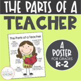 Poster:  The Parts of a Teacher {2 Girl Versions}