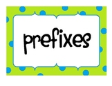 Posters for Prefixes and Suffixes