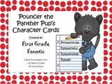 Pouncer the Panther Pup's Character Punch / Sticker Cards Free!