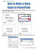 PowerPoint Assignment - Design a Maze Game