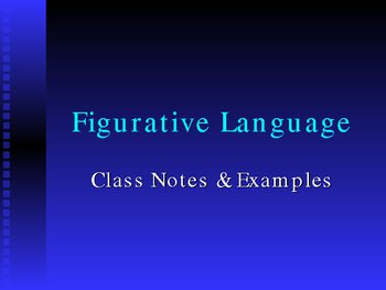 PowerPoint, Overview of Figurative Language