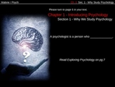 PowerPoint Slides for Understading Psychology (Glencoe) Ch