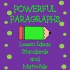 Powerful Paragraphs Lesson Unit