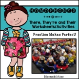Practice Makes Perfect: There, Their, They're Activities a