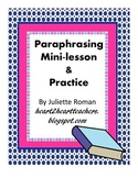 Practice Paraphrasing: a Mini-lesson
