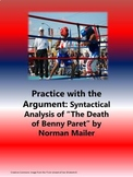 """Practice with the Argument: Syntactical Analysis of """"The D"""
