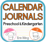 Calendar Journals for Preschool and Kindergarten