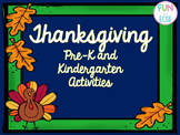 Pre-K and K Thanksgiving Activities