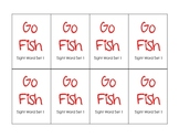 Pre-Primer Sight Word Go Fish Game