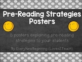 Pre-Reading Strategy Posters for your RLA  (Reading/Langua