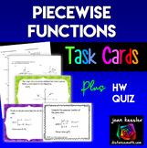 Piecewise Defined Functions * Task Cards * Worksheets