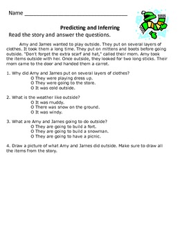 Predicting and Inferring - 2nd grade