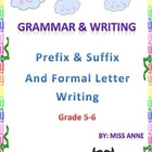 Prefix & Suffix and Formal Letter Writing with Fun Board G