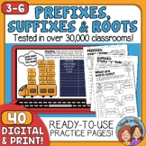Prefixes, Suffixes & Roots Printables - CCSS Aligned with