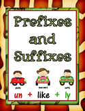 Prefixes and Suffixes Activity Packet