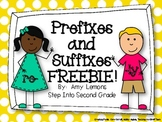 Prefixes and Suffixes FREEBIE!