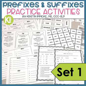 Prefixes and Suffixes Packet